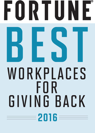 Fortune Best Workplaces for Giving Back 2016