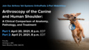 Arthroscopy of the Canine and Human Shoulder: Part 1 – A Comparison of Anatomy, Pathology, Treatment
