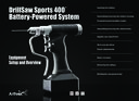 DrillSaw Sports 400™ Battery-Powered System - Equipment Setup and Overview